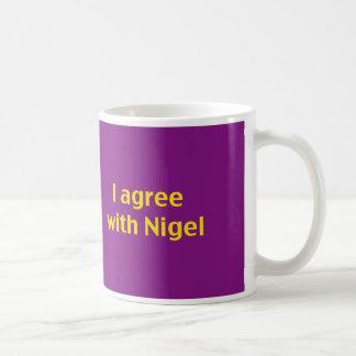 Caneca De Café Mostre seu apoio para Nigel e você kip!
