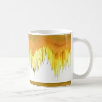 Caneca De Café Motivo amarelo do girassol