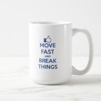 Caneca De Café Mova-se rapidamente e quebre-se coisas