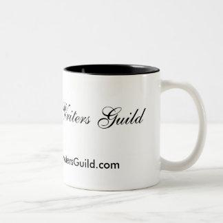 Caneca de café móvel da guilda de escritores
