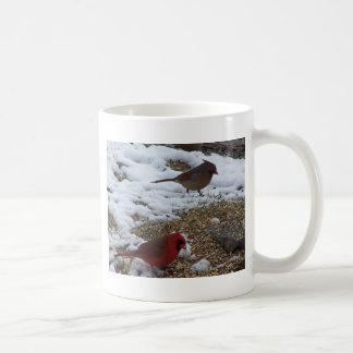 Caneca De Café Mr.&Mrs. Alimentação cardinal na terra
