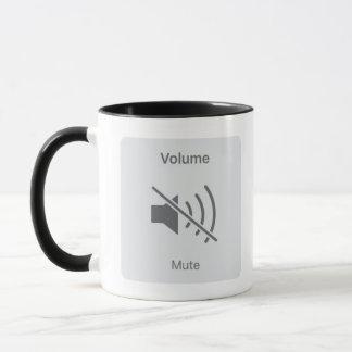 Caneca de café muda do botão