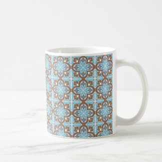 Caneca De Café mug azulejos fleur