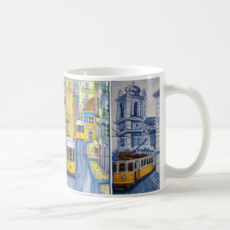 Caneca De Café mug azulejos Lisbonne