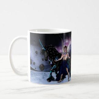 Caneca De Café Mug branco - Orion fada feiticeiro e o seu licorne