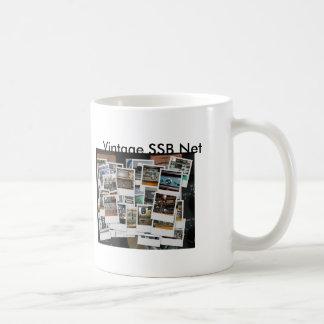 Caneca De Café mug_collage, mug_gkzcollage, rede do vintage SSB,