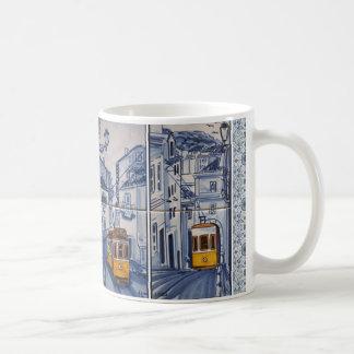 Caneca De Café mug déco Lisbonne Azulejos tramway
