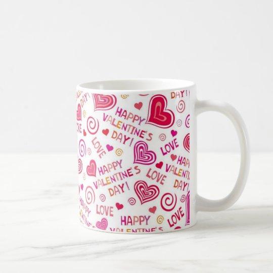 Caneca De Café Mug Happy Valentine's Day