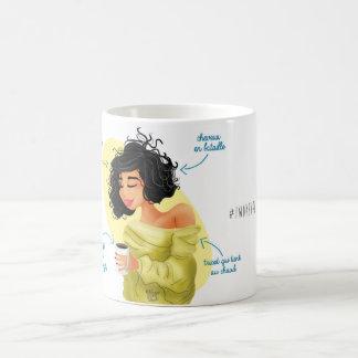 """Caneca De Café Mug Illustré Girly """"I woke up like this """""""