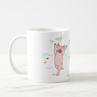 Caneca De Café Mug vegan, porco, vaca e carneiro: Be veggie!