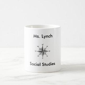 Caneca De Café Mulher da Senhora Lynch dos estudos sociais