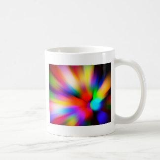 Caneca De Café Multi luzes borradas da cor