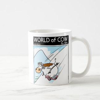 Caneca De Café Mundo do esqui da vaca