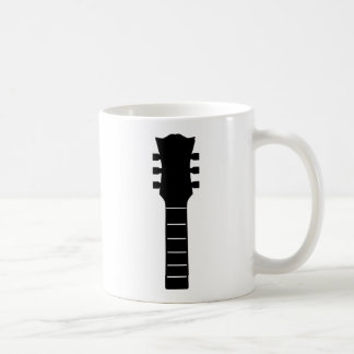 Caneca De Café Música acústica preta contínua da guitarra do