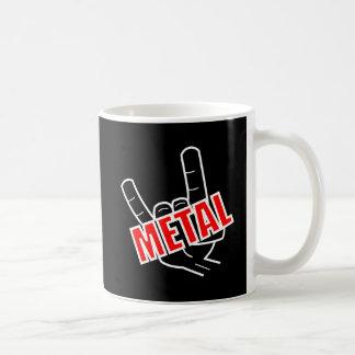 Caneca De Café Música da saudação do metal pesado