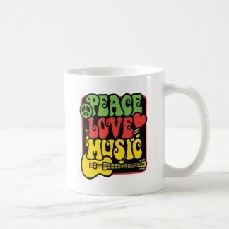 Caneca De Café Música do amor da paz de Rasta
