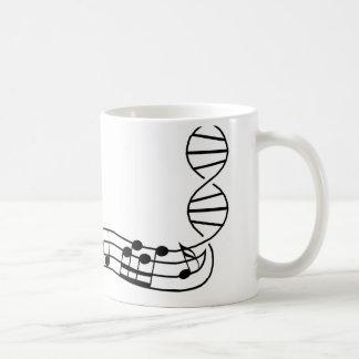 Caneca De Café Música: está em meu ADN
