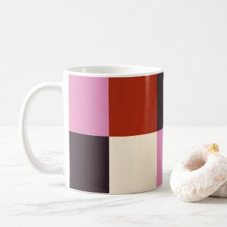 Caneca De Café Na moda cor-de-rosa vermelho do marfim da