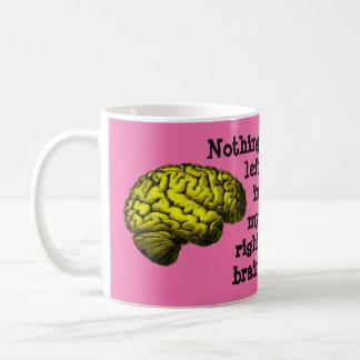 Caneca De Café Nada deixado em meu cérebro direito…