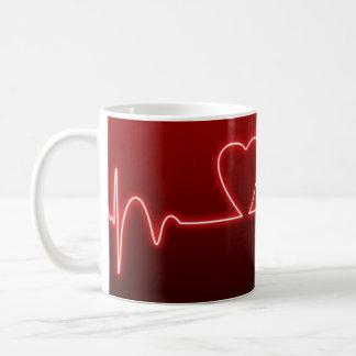 Caneca De Café Namorados Coração-Dados forma do batimento