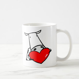 Caneca De Café Namorados do coração da vaca eu amo vacas