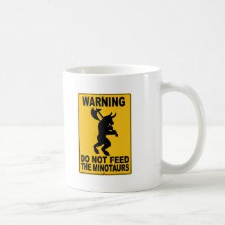 Caneca De Café Não alimente o Minotaurs