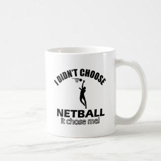 Caneca De Café Não escolheu o Netball