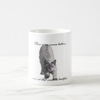 Caneca De Café Não há nenhum botão do snooze…, em um gato t…