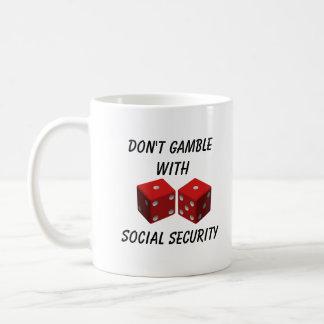 Caneca De Café Não jogue com segurança social