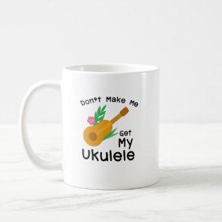 Caneca De Café Não me faça obter meu presente do melómano de Uke