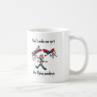 Caneca De Café Não me faça obter os macacos do vôo