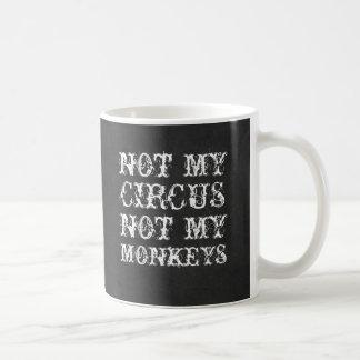 Caneca De Café Não meu circo não meu provérbio polonês engraçado