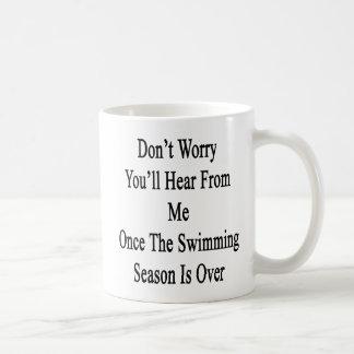 Caneca De Café Não o preocupe ouvirá de mim uma vez a natação