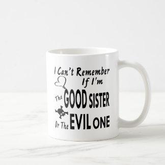 Caneca De Café Não pode recordar se eu sou a bom irmã ou mau uma