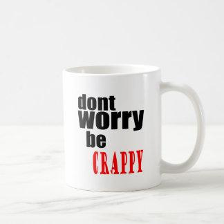 Caneca De Café Não preocupe a piada feliz m inábil das citações