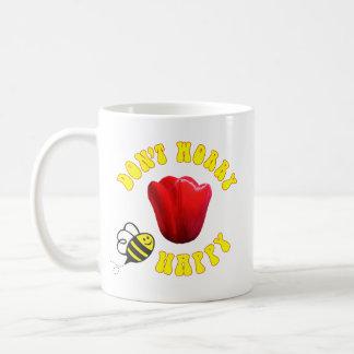Caneca De Café Não preocupe a tulipa feliz de Friso do 🐝 da