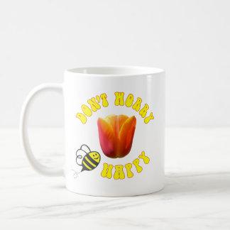 Caneca De Café Não preocupe a tulipa feliz do sonho americano do