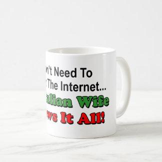 Caneca De Café Não procurare o Internet - a esposa italiana