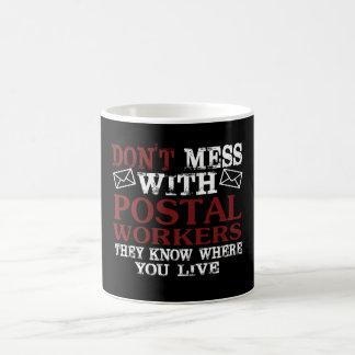 Caneca De Café Não suje o trabalhador postal