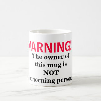Caneca De Café Não uma pessoa da manhã