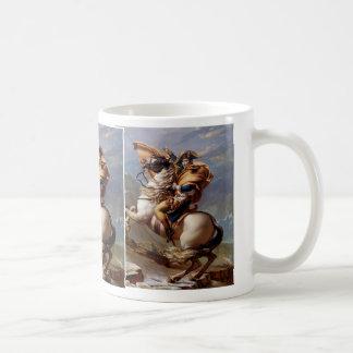 Caneca De Café Napoleon que cruza os cumes por David