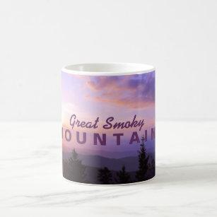 Caneca De Café Nascer do sol cor-de-rosa - Great Smoky Mountains