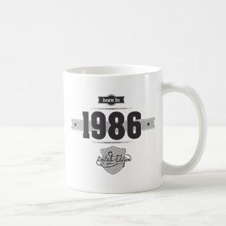 Caneca De Café Nascer em 1986 (Dark&Lightgrey)
