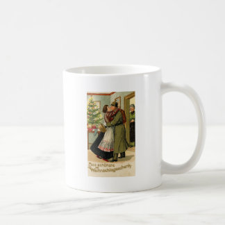 Caneca De Café Natal alemão do soldado do vintage retro