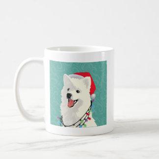 Caneca De Café Natal bonito do cão de filhote de cachorro do