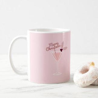Caneca De Café Natal cor-de-rosa de Martini