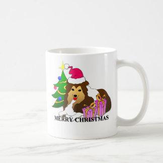 Caneca De Café Natal do Sheepdog de Shetland