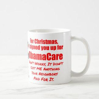 Caneca De Café Natal engraçado de ObamaCare