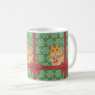 Caneca De Café Natal Hammy do hamster do Natal