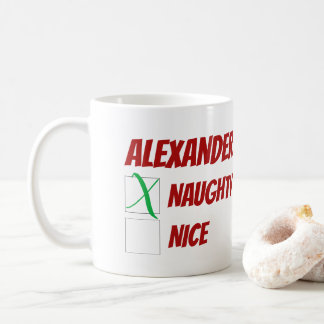 Caneca De Café Natal impertinente ou agradável personalizado